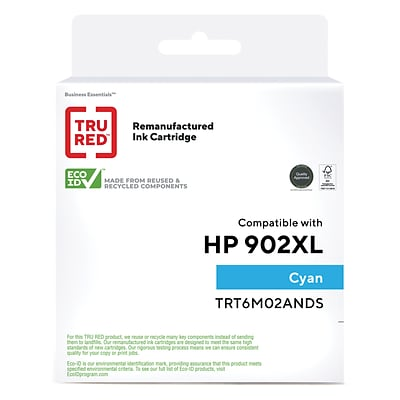 TRU RED™ Remanufactured Cyan High Yield Ink Cartridge Replacement for HP 902XL (T6M02AN)