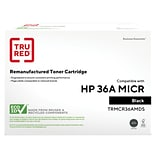 TRU RED™ Remanufactured Black Standard Yield MICR Toner Cartridge Replacement for HP 36A (CB436A)