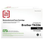 TRU RED™ Brother (TN-336BK) Black Remanufactured High Yield Toner Cartridge