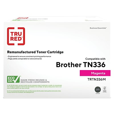 TRU RED™ Brother (TN-336M) Magenta Remanufactured High Yield Toner Cartridge