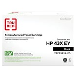 TRU RED™ HP 43X (C8543X) Black Remanufactured Extended Yield Toner Cartridge