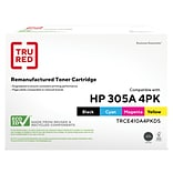 TRU RED™ Remanufactured Black/Color Standard Yield Toner Cartridge Replacement for HP 305A (CE410A/C