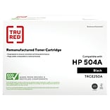 TRU RED™ HP 504A (CE250A) Black Remanufactured Standard Yield Toner Cartridge