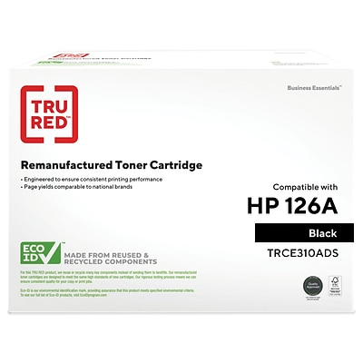 TRU RED™ Remanufactured Black Standard Yield Toner Cartridge Replacement for HP 126A (CE310A)