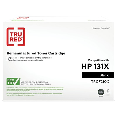 TRU RED™ Remanufactured Black High Yield Toner Cartridge Replacement for HP 131X (CF210X)