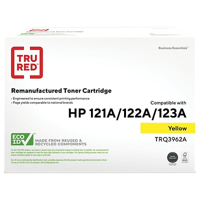 TRU RED™ Remanufactured Yellow Standard Yield Toner Cartridge Replacement for HP 122A (Q3962A)