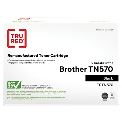 TRU RED™ Remanufactured Black High Yield Toner Cartridge Replacement for Brother (TN-570)