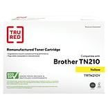 TRU RED? Brother (TN-210Y) Yellow Remanufactured Standard Yield Toner Cartridge