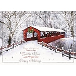 Cozy Lane Holiday Cards, with Self-Seal Envelope, 25 Cards per Set