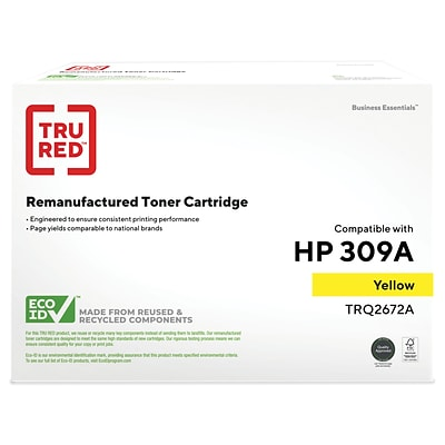 TRU RED™ Remanufactured Yellow Standard Yield Toner Cartridge Replacement for HP 309A (Q2672A)
