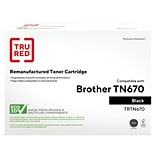 TRU RED? Brother (TN-670) Black Remanufactured Standard Yield Toner Cartridge