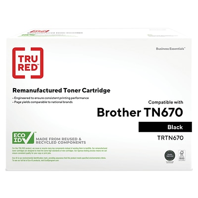 TRU RED™ Remanufactured Black Standard Yield Toner Cartridge Replacement for Brother (TN-670)