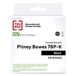 TRU RED™ Pitney Bowes (78P-K) Black Remanufactured High Yield Ink Cartridge