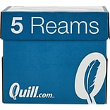 Quill Brand® 8.5 x 11 Multipurpose Copy Paper, 20 lbs., 94 Brightness, 500 Sheets/Ream, 5 Reams/Ca