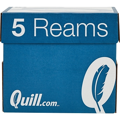 Quill Brand® 8.5 x 11 Multipurpose Copy Paper, 20 lbs., 94 Brightness, 500 Sheets/Ream, 5 Reams/Carton (520555)