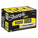 Sharpie Pro King Size Permanent Markers, Chisel Point, Black, Dozen (15001DZ)