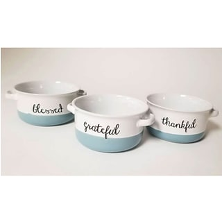 3-pc Ceramic Bowl Set with $175 order