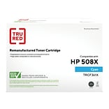 TRU RED™ Remanufactured Cyan High Yield Toner Cartridge Replacement for HP 508X (CF361X)