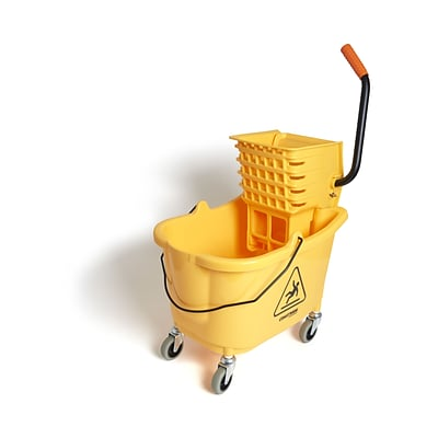 Coastwide Professional™ Bucket & Side-Press Wringer, 35 Qt., Yellow/Black (CW21871)