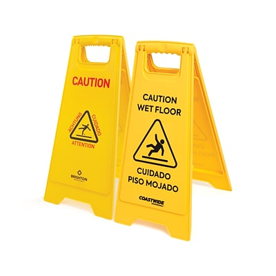 Coastwide Professional™ Safety Awareness Floor Sign, Yellow (CW21872)