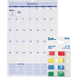 2020 Quill Brand® 30 x 20 Monthly Wall Calendar & Quill Brand® Flags - Special Offer!