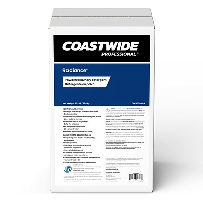 Coastwide Professional™ Radiance™ Powdered Laundry Detergent, 50 lbs./22.6 kg.  (CW900050-A)
