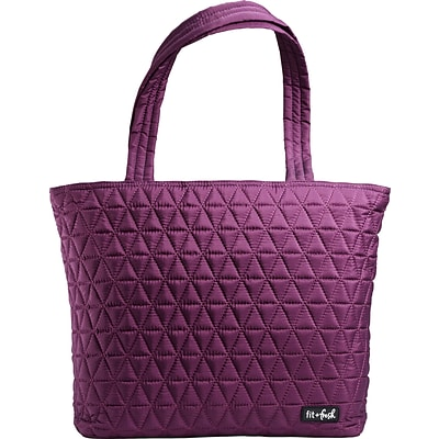 Fit & Fresh Metro Quilted Tote - plum