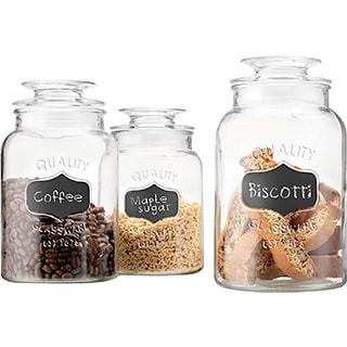3-pc Glass Canisters with $200 order