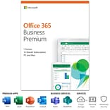 Microsoft Office 365 Business Premium 12-Month Subscription for PC/Mac, 1 User, Product Key Card (KL