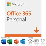 Microsoft Office 365 Personal 12-Month Subscription for PC/Mac, 1 User, Download (DLM3PZG3QWK3PLB)