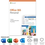 Microsoft Office 365 Personal 12-Month Subscription for PC/Mac, 1 User, Product Key Card (QQ2-00728)