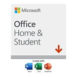 Microsoft Office Home and Student 2019 for Windows/Mac, 1 User, Download (DSERLN97Y4DJ23C)