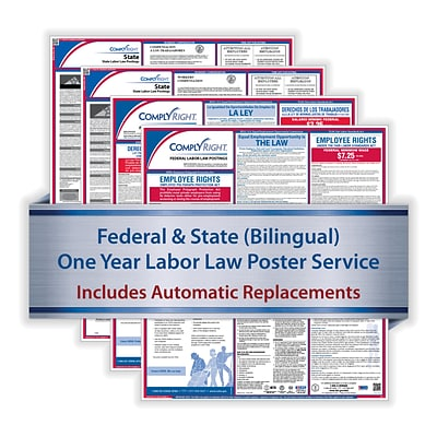 ComplyRight 1 Year Poster Service, New Jersey Bilingual Federal and State (U1200CBANJ)