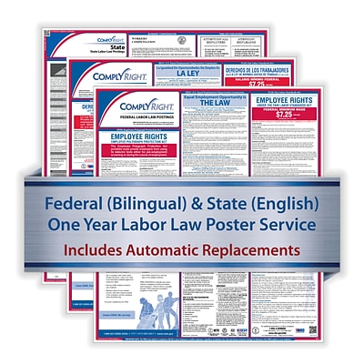 ComplyRight 1 Year Poster Service, Alabama Bilingual Federal and English State (U1200CBOAL)