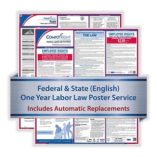 ComplyRight 1 Year Poster Service, Utah English Federal and State (U1200CUT)