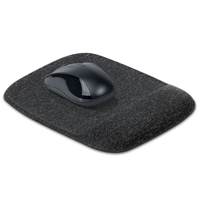 Quill Brand® Mouse Pad with Gel Wrist Rest, Black (53326)