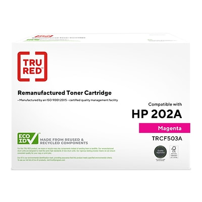 TRU RED™ Remanufactured Magenta Standard Yield Toner Cartridge Replacement for HP 202A (CF503A)