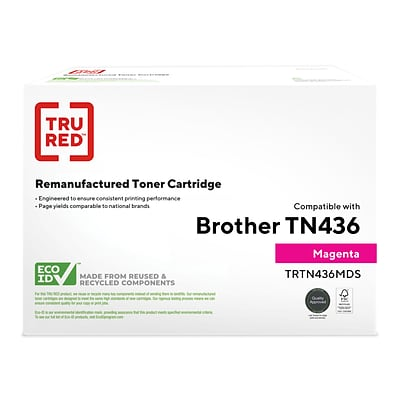 TRU RED™ Remanufactured Magenta Extra High Yield Toner Cartridge Replacement for Brother TN436M (TN436M)