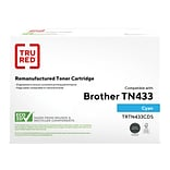 TRU RED™ Remanufactured Cyan High Yield Toner Cartridge Replacement for Brother TN433C (TN433C)