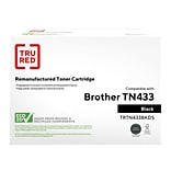 TRU RED™ Remanufactured Black High Yield Toner Cartridge Replacement for Brother TN433BK (TN433BK)