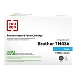 TRU RED™ Brother (TN436C) Cyan Remanufactured Extra High Yield Toner Cartridge