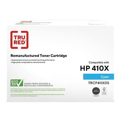 TRU RED™ Remanufactured Cyan High Yield Toner Cartridge Replacement for HP 410X (CF411X)
