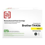 TRU RED™ Brother (TN436Y) Yellow Remanufactured Extra High Yield Toner Cartridge