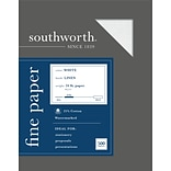 Southworth 8.5 x 11 Business Paper, 24 Lbs., Linen, 500/Box (554C)