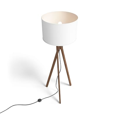 Union & Scale™ Essentials 57.5 Wood Floor Lamp with Drum Shade (UN58021)
