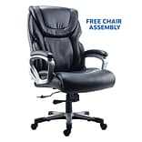 FREE Assembly on Quill Brand Denaly Big & Tall Leather Chair, Black