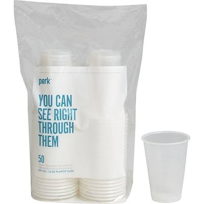 Perk™ Plastic Cold Cup, 12 Oz., Clear, 50/Pack (PK56333)