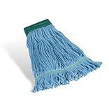 Coastwide Professional™ Looped-End Wet Mop Head, Medium, Recycled Blend, 5 Headband, Blue (CW57751)