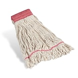 Coastwide Professional™ Looped-End Wet Mop Head, Large, Cotton, 5 Headband, White (CW57748)