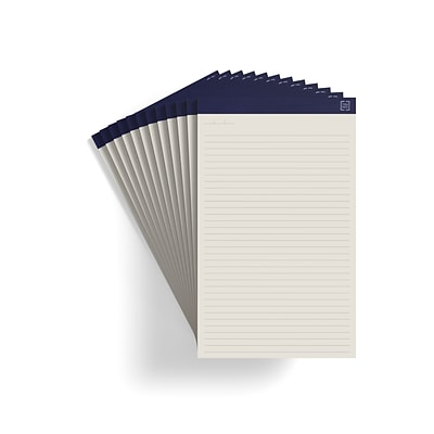TRU RED™ Notepads, 8.5 x 14, Wide Ruled, Ivory, 50 Sheets/Pad, 12 Pads/Pack (TR58197)